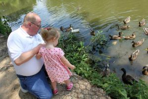 Opa and Ryleigh With the Ducks by katseyecreations
