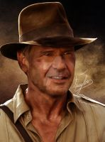 Indiana Jones Painting by EpsylonGraph