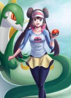 ROSA and SERPERIOR_POKEMON by papillonstudio