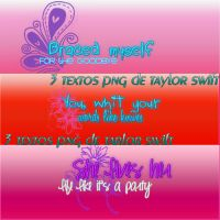 Textos png Taylor Swift by Juli2000
