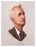 Mad Men - Roger Sterling (Painting) by plaidklaus