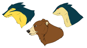 Typhlosion head shapes by blueharuka