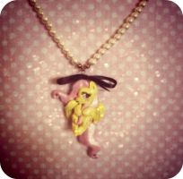 Fluttershy necklace Picture 2 by LAUBoZ