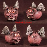 When Demented Pigs Fly OOAK by Undead-Art