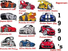 Koolart Supercars 1990's by Street-Racer