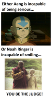 Aang and Noah Ringer by LightEcoSage1