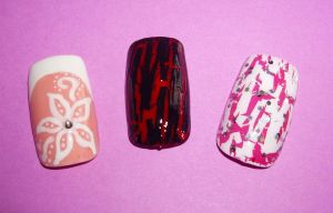 Nail Art - Testers by Shadowoftheredrose