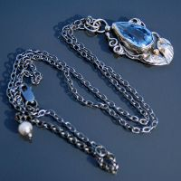 Necklace with blue topaz by galeriabellasartes