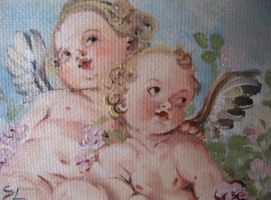 ACEO ::Over the angels:: by sanguigna