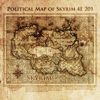 Elder Scrolls: Political map of Skyrim 4E201 by DovahFahliil