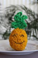 Crochet Happy Pineapple by Faeriegem