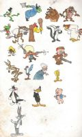 Looney Tunes characters by brazilianferalcat