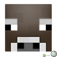 Minecraft - Cow Head Icon by CoopaD