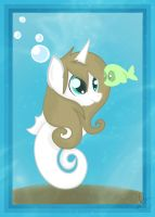 Balloons is now a sea pony :3 by Balloons504