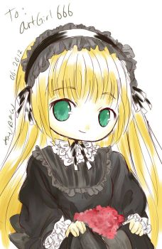 Gosick - A Girl and Flowers by karenmizuno