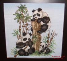 Cross Stitch - Pandas by DragomirEmil