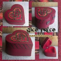 Celtic Heart Wood Box by GatoPretoArtesanato
