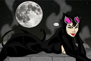 Catwoman By:Mikel Harvey Colored by Icecat13