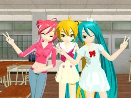 MMD BFF's Neru, Teto and Miku by Party-P