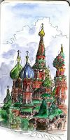 The Red Square, Moscow by crisurdiales