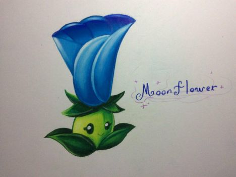 PvZ 2 Unpowered Moonflower by Antack743