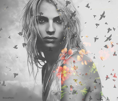 Andrej Pejic - birds and flowers by billakomm