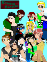 MH group picture time by Ch4rm3d