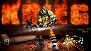 Borderlands2 Wallpaper - Krieg by mentalmars