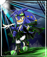 CE: Kaito the hedgehog by shadowhatesomochao