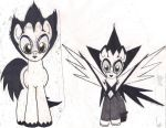 Klaus Nomi Ponies Frount View (colored) by DreamRevolution