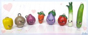 Veggie Charms by Zhoira