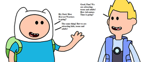 Finn the Human meets Chris Kirkman by MarcosLucky96