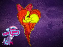 Heart Applebloom embroidered patch by angel99percent