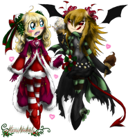 Merry Winter from Heather and Ereiki by HezuNeutral