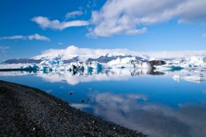 Glacier Lagoon Reflections by mikechro