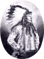 KICKS IRON, Dakota Sioux by wendelin