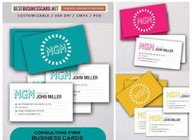 Free PSD Templates: 3 Consulting Firm Business Ca by fiftyfivepixels