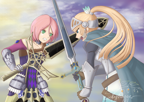 Rune Factory: Forte vs Sonja by WoolyHugger