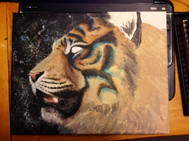 Mystery Tiger - WIP by LuxDani