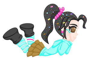 Vanellope colored vector by MikariStar