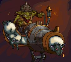 E.S.C-Gob. (Goblin Explosive Sheep Cannon) by Lexrl