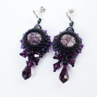 Violet Dream -earrings by AillilStudio