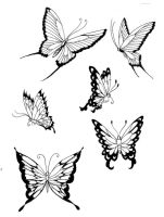 Butterflies- lines 3 by koshii