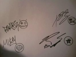There autographs. by The-MCR-Fan-Club