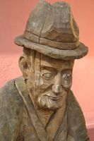 Wooden statue 2 by Risandell