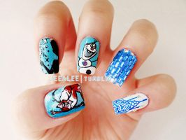 Frozen Nails by jeealee
