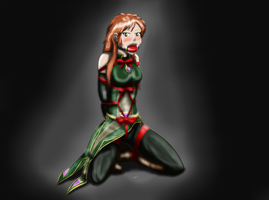 COM#2 - Elena All Wrapped up for Christmas by couger49