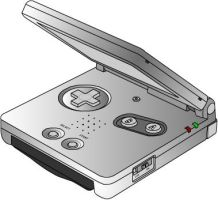 Game Boy Advanced SP by CobaltWinterborn