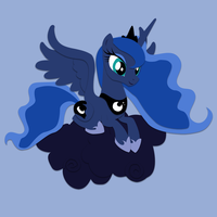 Commission: Luna Shadowbox Mockup by The-Paper-Pony
