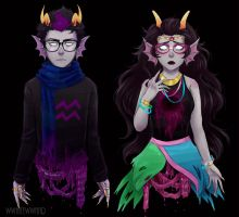 Eridan and Feferi (dead) by wwhitewwand